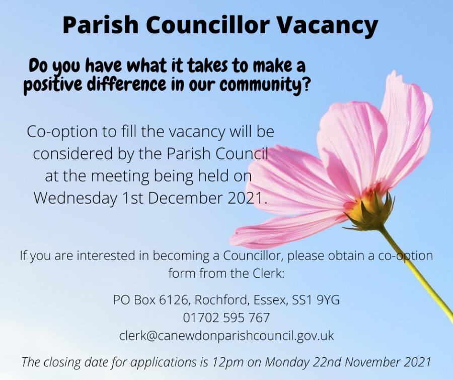 Councillor Vacancy