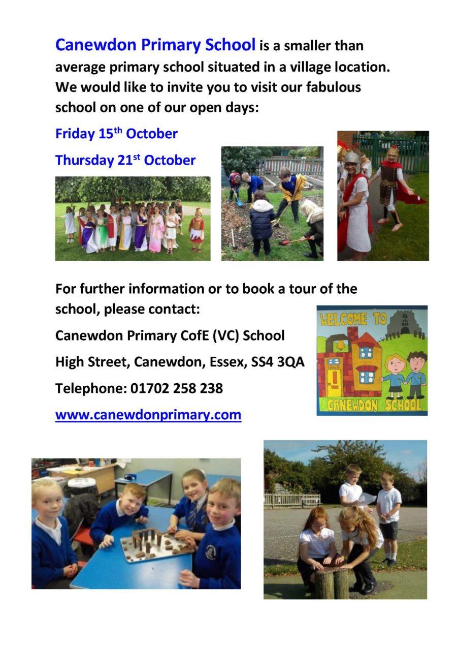 Canewdon School Open Day 2021